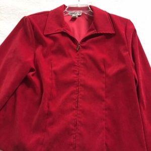 Briggs Suede Look  Red Jacket- Large